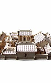 Puslespill 3D-puslespill Byggeklosser GDS-leker Kjent bygning Kinesisk arkitektur Tre Hobbyprodukter