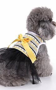 고양이 개 드레스 턱시도 강아지 의류 여름 스트라이프 귀여운 웨딩 패션 캐쥬얼/데일리