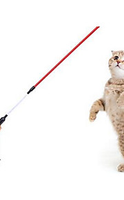 猫用おもちゃ ペット用おもちゃ インタラクティブ ティーザー 耐用的 プラスチック クロス ランダムカラー