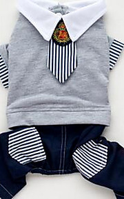 犬用品 Tシャツ 犬用ウェア 春/秋 ブリティッシュ キュート ファッション カジュアル/普段着 グレー