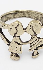 Båndringe Ring SmykkerEnkelt design Unikt design Logo USA Holdbar Britisk Mode Klassisk Vintage Elegant Boheme Stil Punk Stil Yndig