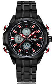 NAVIFORCE Masculino Relógio Esportivo Relógio de Moda Relógio de Pulso Relógio Casual Quartzo Calendário Aço Inoxidável BandaLuxuoso