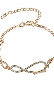 Dame Charm-armbånd Venskab Mode Legering Geometrisk form Smykker For Fødselsdag 1 Stk.
