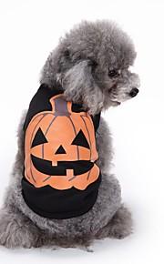 猫用品 犬用品 Tシャツ ベスト 犬用ウェア 夏 カボチャ キュート ファッション カジュアル/普段着 ハロウィーン