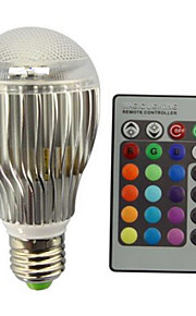 9W E27 LED-globepærer A60(A19) 1 Integrert LED 800 lm RGB Fjernstyrt Dekorativ Dimbar AC 85-265 V 1 stk.