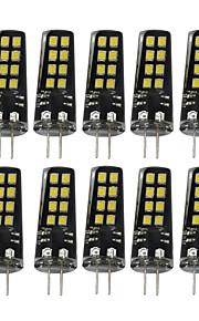 3W G4 LED-lamper med G-sokkel 16 SMD 2835 200-300 lm Varm hvit Naturlig hvit Hvit Dekorativ V 10 stk.