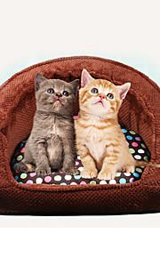 고양이 강아지 침대 애완동물 매트&패드 소프트 브라운