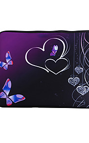 For MacBook Air / Pro / Retina 13 inch Universal Laptop Sleeves Oil Painting Butterfly Pattern Canvas Material