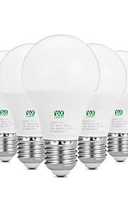 7W E26/E27 LED-globepærer 14 SMD 2835 600-700 lm Varm hvit Hvit Dekorativ AC100-240 V 5 stk.