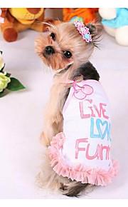 犬用品 ドレス 犬用ウェア ファッション カジュアル/普段着 プリンセス イエロー ピンク