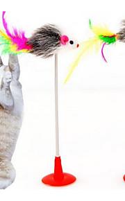 Katteleke Leker til kjæledyr Interaktivt Teasers Holdbar Plastikk Stoff Grå