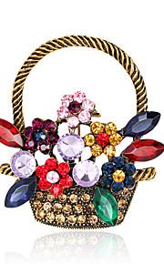 Dame Brocher Mode Euro-Amerikansk Rhinsten Legering Geometrisk form Smykker For Bryllup Fest Speciel Lejlighed Daglig