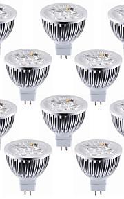 5.5W GU5.3(MR16) LED-spotpærer MR16 4 Høyeffekts-LED 600 lm Varm hvit Kjølig hvit Dekorativ DC 12 V 10 stk.