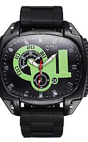 Masculino Relógio Esportivo Chinês Quartzo Silicone Banda Preta