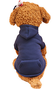 Holdhoney Dog Hoodie  Red/Dark Blue/Fuchsia/Pink/Green/Coffee/Gray Dog Clothes Spring/Fall Solid Fashion #LT15050289