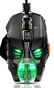 Cableada rgb led retroiluminada aliento 4000dpi 8 botones ratón ratones de juegos metal usb ergonómico óptico ratón ratón ordenador