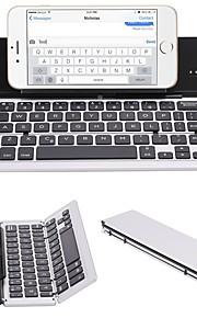F18 portátil ultra delgado plegable de aleación de aluminio bluetooth 3.0 teclado inalámbrico para teléfono móvil tablet pc