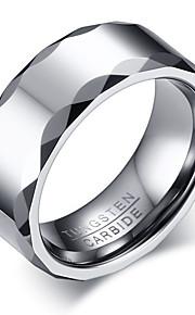 Ring Enkelt design Mode Personaliseret Euro-Amerikansk minimalistisk stil Wolfram stål Cirkelformet Rund form Geometrisk form Smykker For