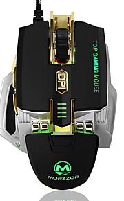 De gama alta 4000dpi con cable de ratón de juegos de definición de la macro llevado ratón usb con función de memoria aumento de peso