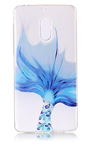 Para Carcasa Funda Transparente En Relieve Diseños Cubierta Trasera Funda Diseño de Encaje Suave TPU para Nokia Nokia 6