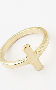 Euramerican Simple Style Daily Cross Ring Movie Jewelry