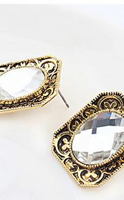 Dame Par Stangøreringe Imiteret DiamantEnkelt design Logo Rhinsten Geometrisk Venskab Klassisk Elegant Holdbar Sexet Mode Vintage Boheme