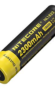 2pcs nitecore 3.7v 8.5wh bateria recarregável 18650 de iões de lítio 2300mAh nl1823