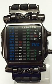 Муж. Подростки Спортивные часы С механизмом Ecology-Drive LED Pезина Группа Повседневная Черный