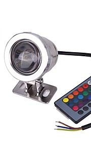 AC/DC 12V IP65 Waterproof RGB 10W Underwater Lamp / Colorful Remote Control Outdoor Waterproof  Underwater Colorful Lights