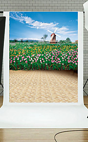 Vinyl Photo Backdrop Child Studio Flowers and Plants Photography Background Baby 5x7ft