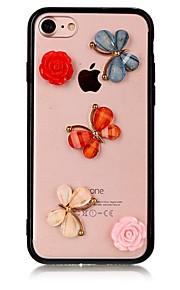 애플 아이폰 7 7 플러스 아이폰 6s 6 플러스 케이스 아크릴 케이스에 나비 패턴 커버