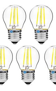 4W Lampadine LED a incandescenza G45 4 COB 300 lm Bianco caldo Bianco Oscurabile V 5 pezzi
