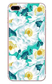 애플 아이폰 7 7 플러스 6s 6 플러스 케이스 커버 꽃 패턴 hd 페인트 tpu 소재 소프트 케이스 전화 케이스