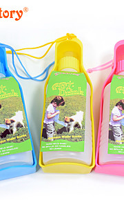 Katze Hund Schalen & Wasser Flaschen Haustiere Schüsseln & Füttern Tragbar Gelb Blau Rosa