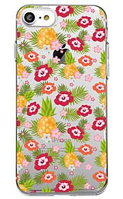 iphone 7 플러스 7 케이스 커버 투명 패턴 다시 커버 케이스 꽃 과일 부드러운 tpu 아이폰 6s 플러스 6s 6 플러스 6 5s 5 se