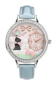 Жен. Модные часы Кварцевый Цифровой Защита от влаги PU Группа Синий