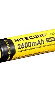 2pcs nitecore 3.7v 9.6wh bateria recarregável 18650 de iões de lítio 2600mah nl1826