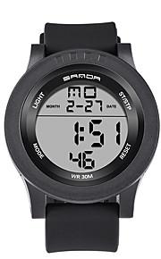 남성용 스포츠 시계 밀리터리 시계 스마트 시계 패션 시계 손목 시계 디지털 LED 달력 피트니스 트렉커 스톱워치 야광 실리콘 밴드 캐쥬얼 블랙 화이트 블루 브라운 그린