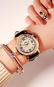 Mulheres Relógio de Moda Japanês Quartzo Impermeável Couro Banda Brilhante Preta Branco Vermelho Marrom Roxa