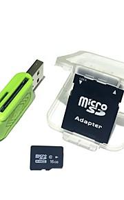 16GB MicroSDHC TF Memory Card with 2 in 1 USB OTG Card Reader Micro USB OTG