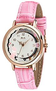 Жен. Модные часы Кварцевый Цифровой Защита от влаги PU Группа Белый Розовый