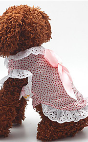 Dog Dress Dog Clothes Casual/Daily Fashion Polka Dots Blushing Pink Blue