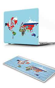 For MacBook Air 11 13 Pro Retina 13 15 Macbook 12 Case Cover PVC Material Oil Painting Flag Map with US Silicone Keyboard Protector