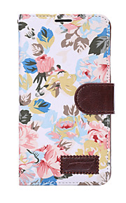For samsung galaxy note5 note4 case cover blomster pu lær mobiltelefon holster note3