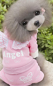 Perro Mono Ropa para Perro Casual/Diario Angel y Diablo Azul Rosa