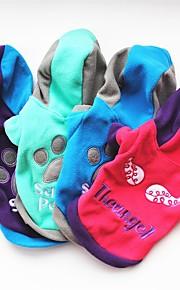 Gato Cachorro Casacos Camiseta Camisola com Capuz Moletom Roupas para Cães Festa Casual Mantenha Quente Carta e NúmeroRoxo Rosa Verde