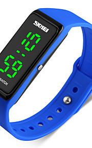 SKMEI Mulheres Homens Relógio Esportivo Relogio digital Digital PU Banda Preta Azul Vermelho Verde Cinza Azul Marinho