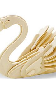 Puzzle Kit fai-da-te Puzzle 3D Costruzioni Giocattoli fai da te Cigno Con animale