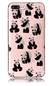 Case voor apple iphone 7 plus 7 telefoon hoesje tpu materiaal imd proces panda patroon hd flash poeder telefoon hoesje 6s plus 6 plus 6s 6