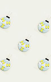 1W LED Doppel-Pin Leuchten 6 SMD 5630 75 lm Warmes Weiß Weiß DC 12 V 5 Stück